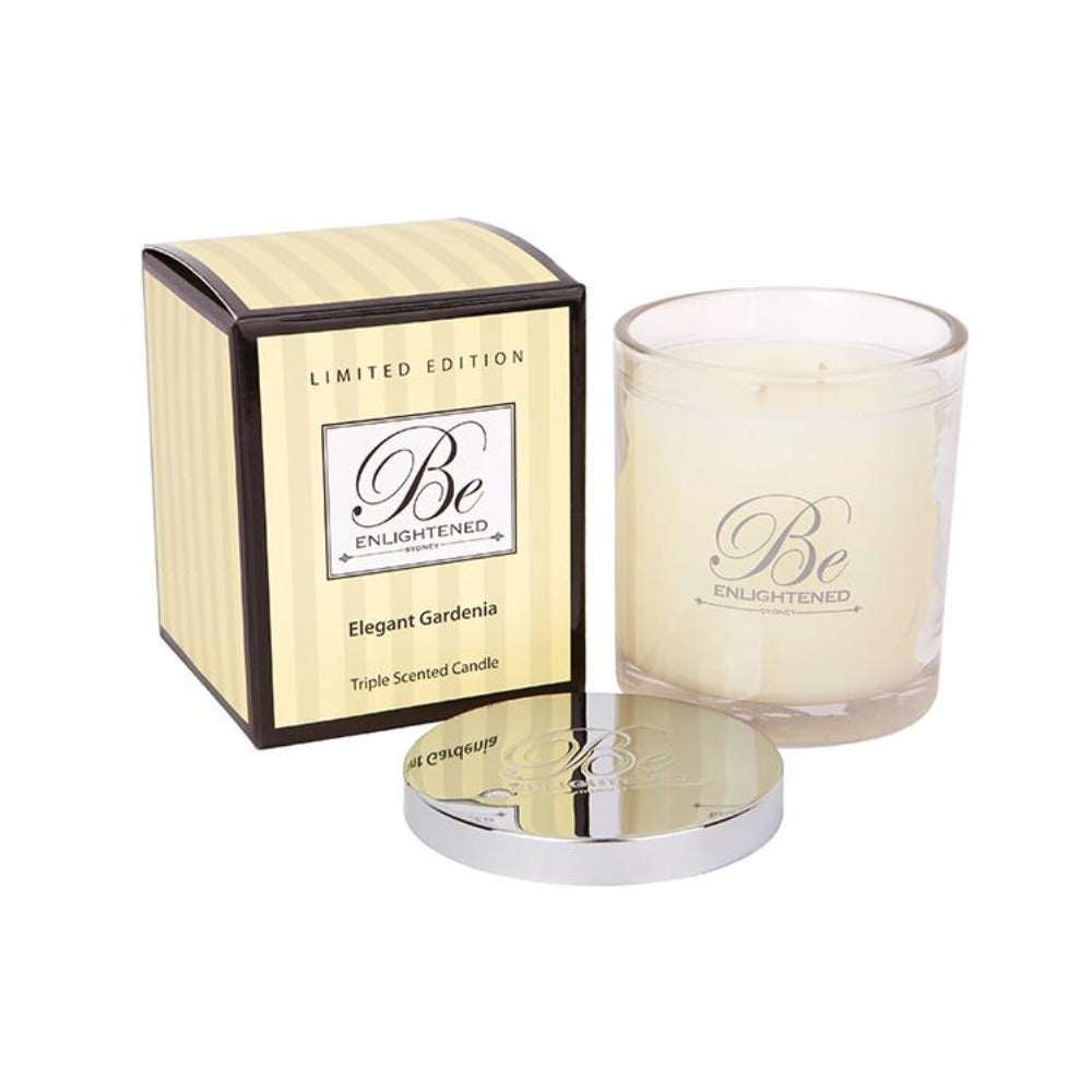 Elegant Gardenia | Elegant Candle 400g | BE ENLIGHTENED