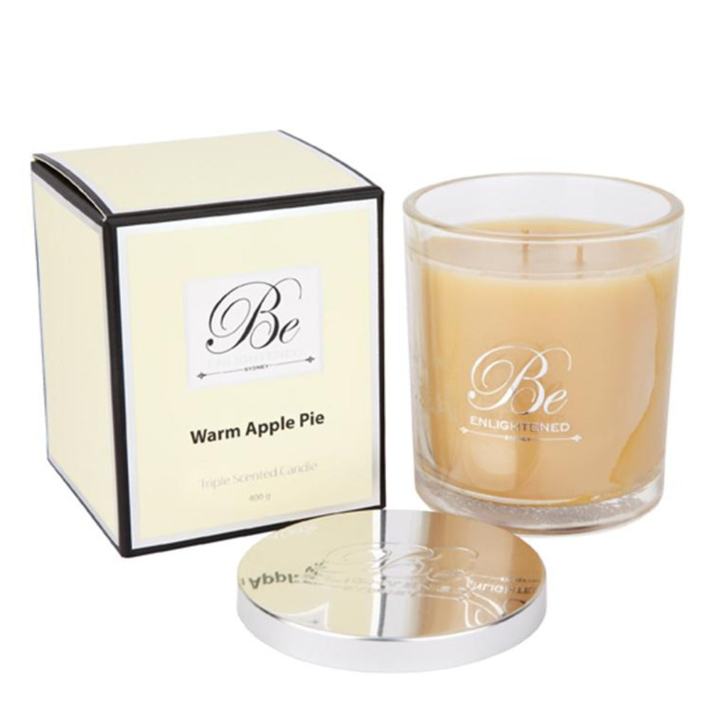 Warm Apple Pie | Elegant Candle 400g | BE ENLIGHTENED