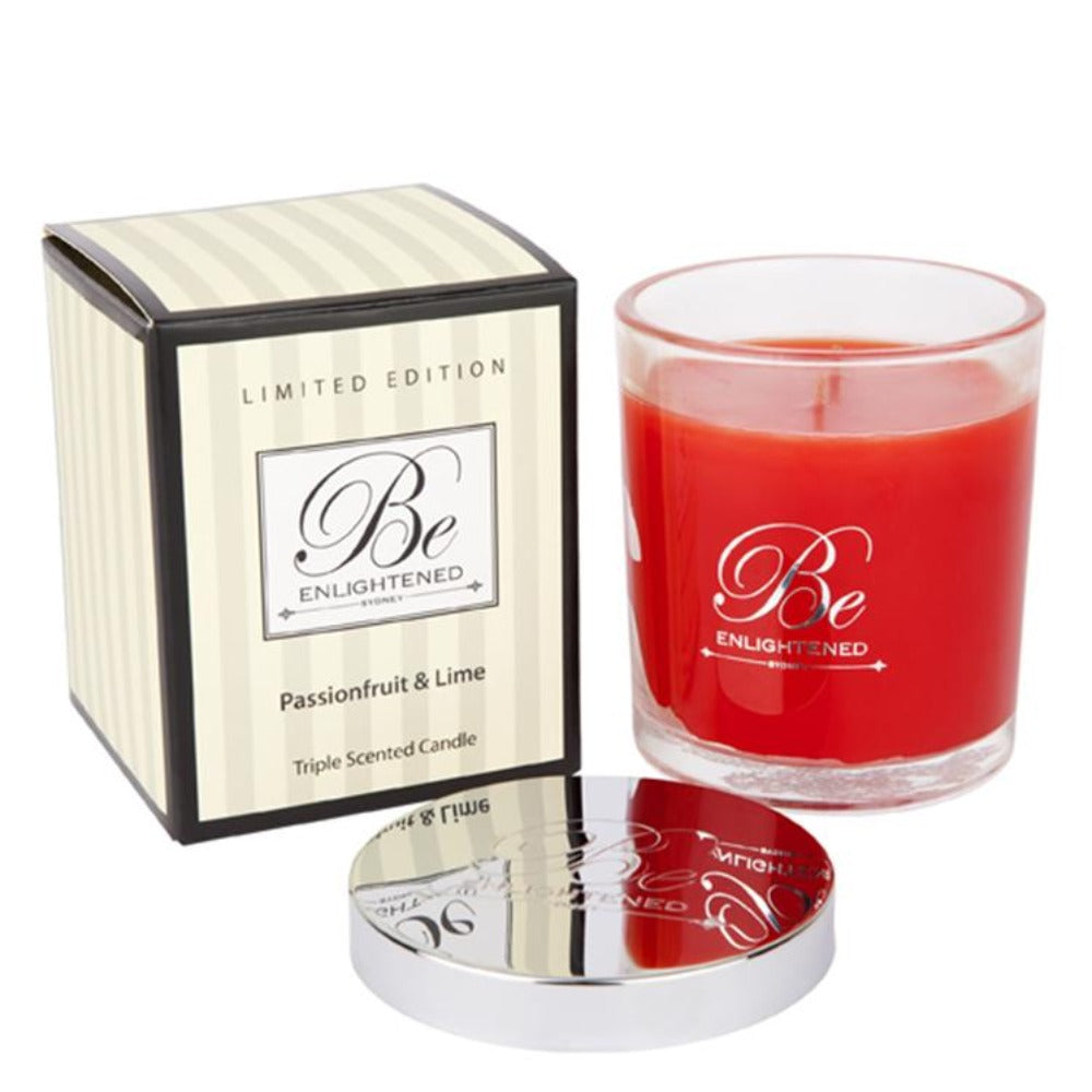Passionfruit & Lime | Elegant Candle 400g | BE ENLIGHTENED