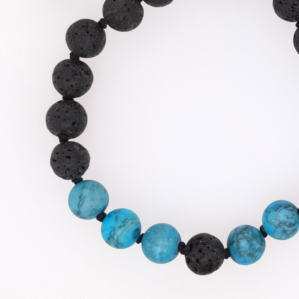 Creativity | Chrysocolla & Lava Stone | Bracelet Aroma Set | BRAMBLE BAY