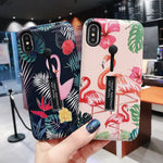 Colorful Flamingo Case For iPhone