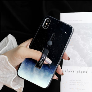 Night Sky Tempered Glass Case For iPhone