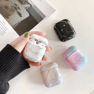 White Marble Case For AirPods