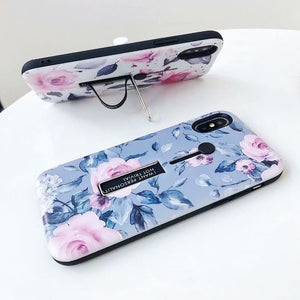 Purple Flower Love Case for iPhone