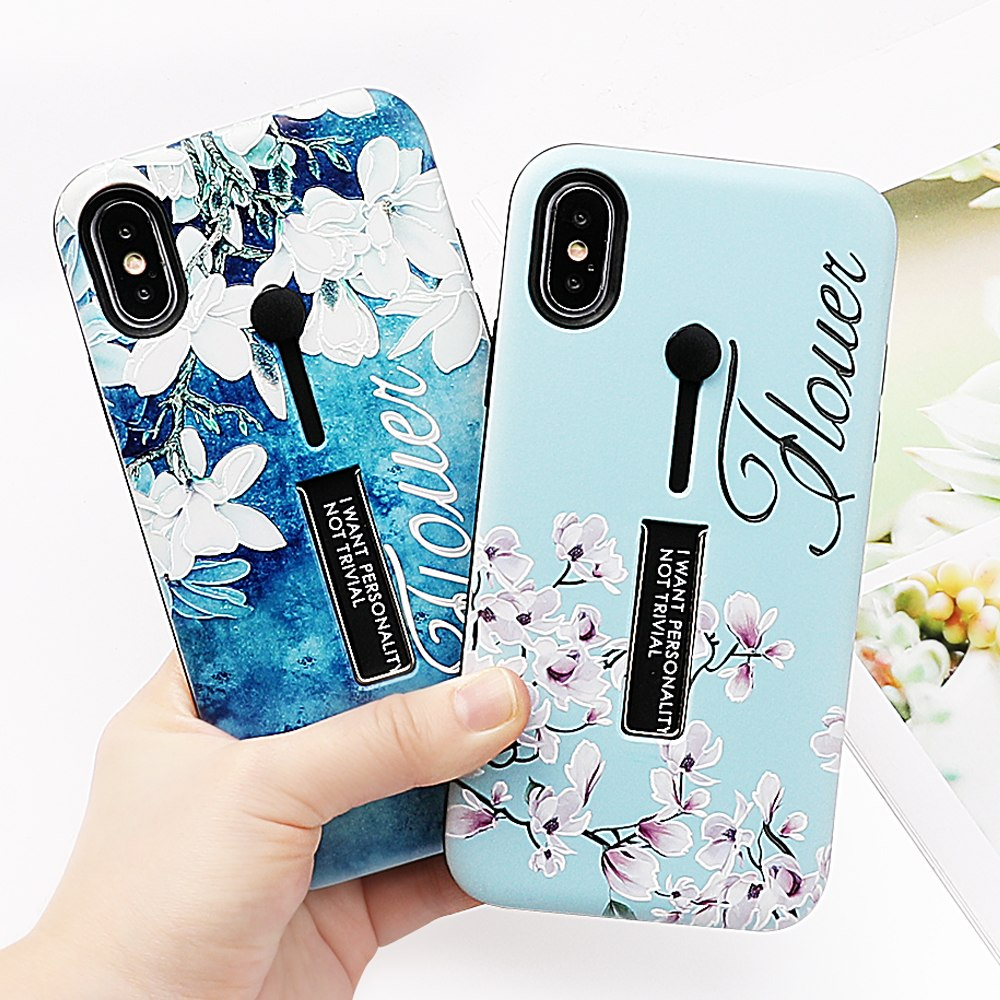 Blue Flower Love Case For iPhone