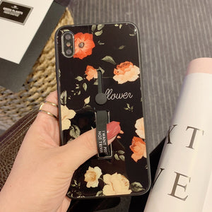 Gorgeous Roses Tempered Glass Case For iPhone