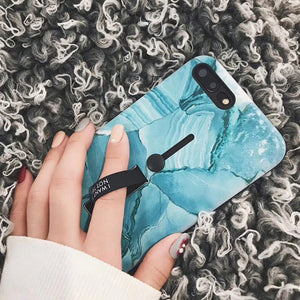Turquoise Marble Case For iPhone