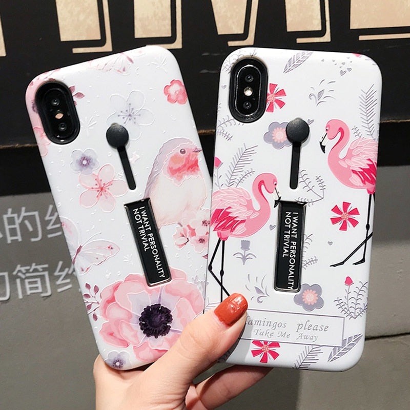 Bird & Flower Case For iPhone