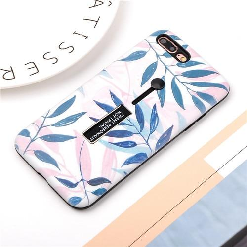 Blue Leaf Case For iPhone