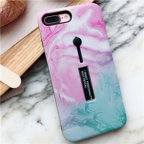 Pink Turquoise Marble Case For iPhone