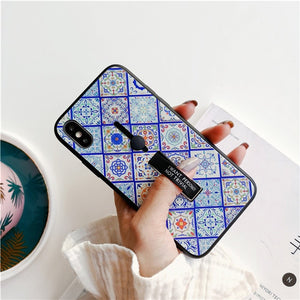 Ethnic Mandala Tempered Glass Case For iPhone