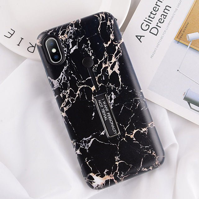 Black Marble Case For iPhone