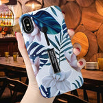 Blue Leaf Vanilla Case For iPhone