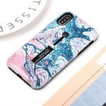 Blue & Pink Splash Case For iPhone