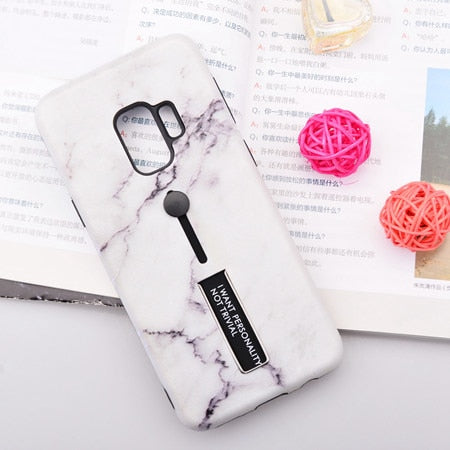 White Marble Case For Samsung