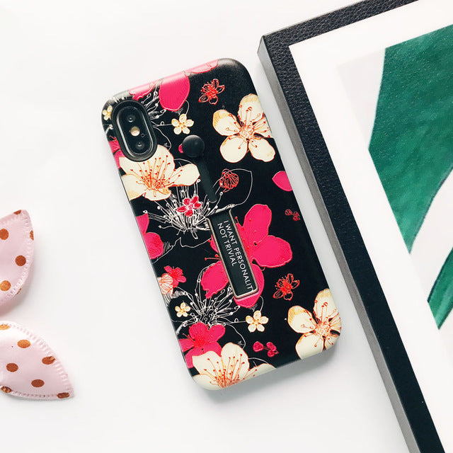 Yellow Pink Flower Case For iPhone