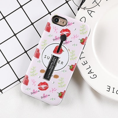 Kiss & Strawberry Case For iPhone