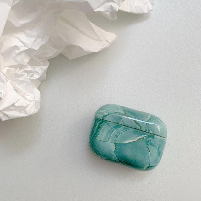 Turquoise Marble Case For AirPods Pro