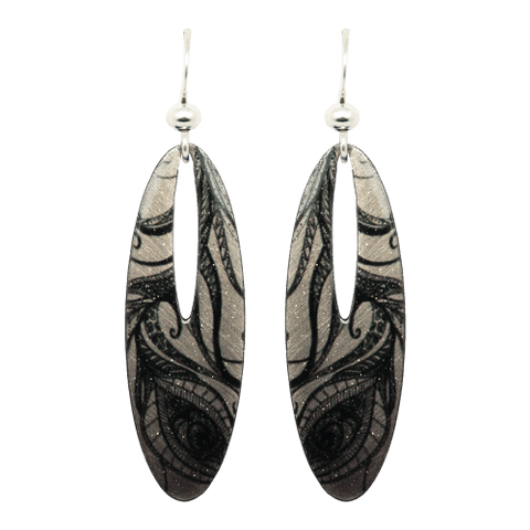 Feather Drawing Earrings