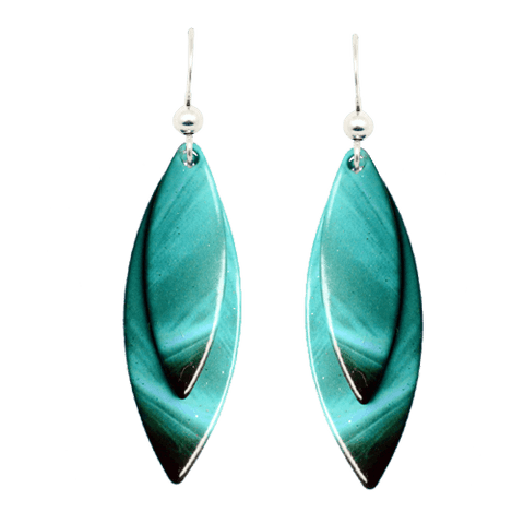 Aqua Wave Earrings