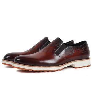 Bright Leather Loafers Soft Sole Comfy Shoes