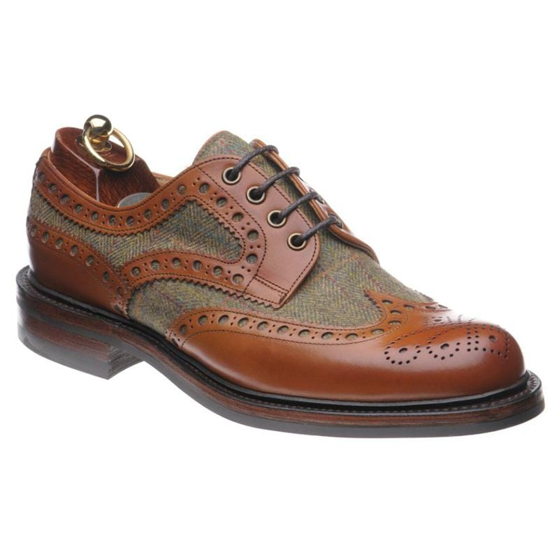 Color Matching Leather Brogue Shoes Men's Derby Shoes