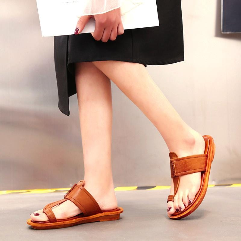 New Lovely Summer Slippers Fashion Handmade Leather Shoes