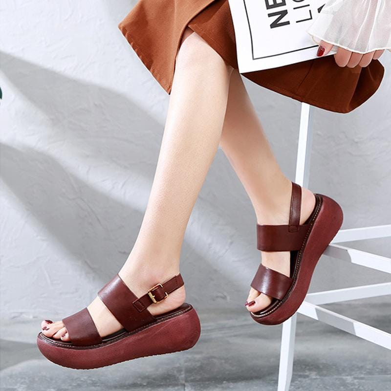 Women Sandals Platform Sandals Genuine Leather Handmade