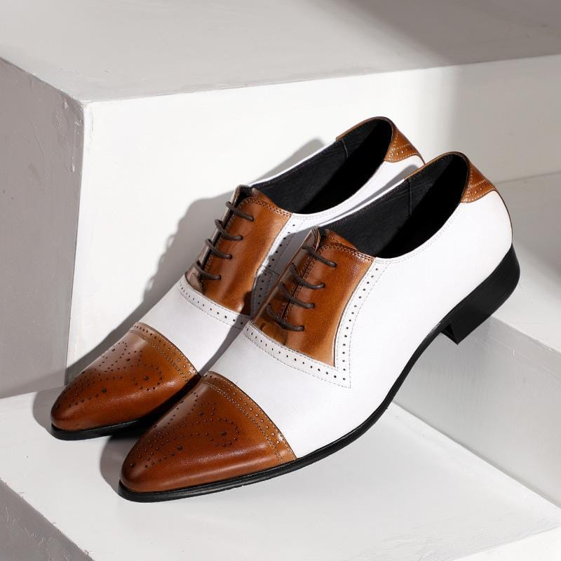 Color Matching Men's Dress Shoes Leather Shoes