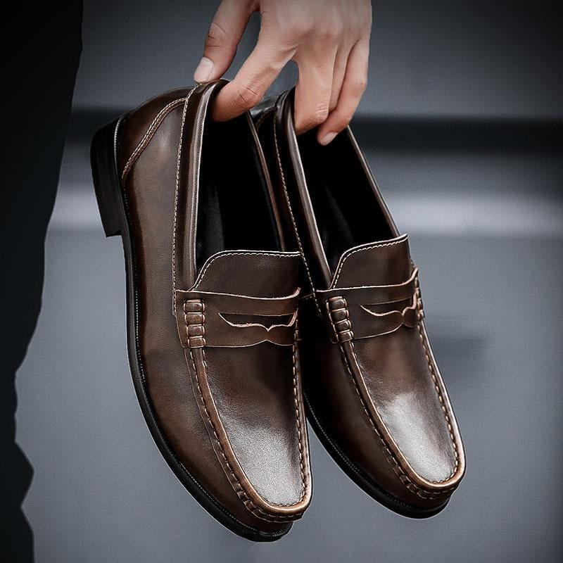 Casual Leather Loafers Men's Slip-on Shoes