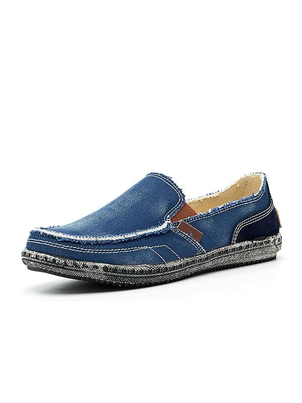 New Fashion Soft Denim Canvas Casual Loafers-XXMX00531