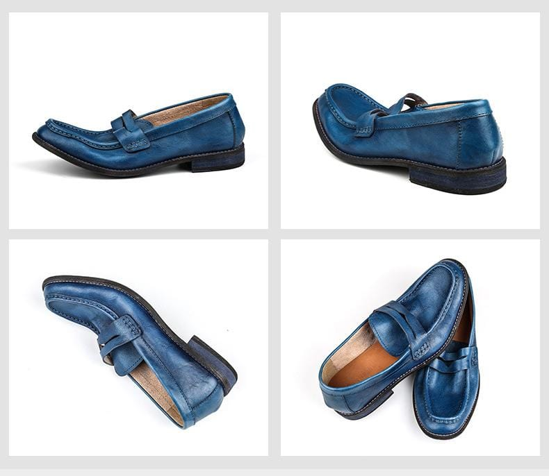 Handmade Men's Leather  Loafers Fashion Shoes