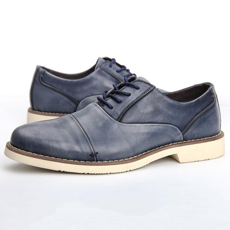 Casual Leather Shoes Trend Retro Derby Shoes