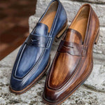 Handmade Leather Loafers Slip-on Shoes
