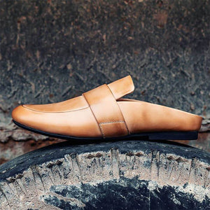 New 2019 Men Sandals Handmade Leather Shoes