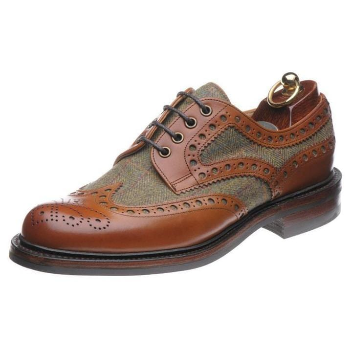 Handmade Leather Brogues Color Matching Oxford Shoes
