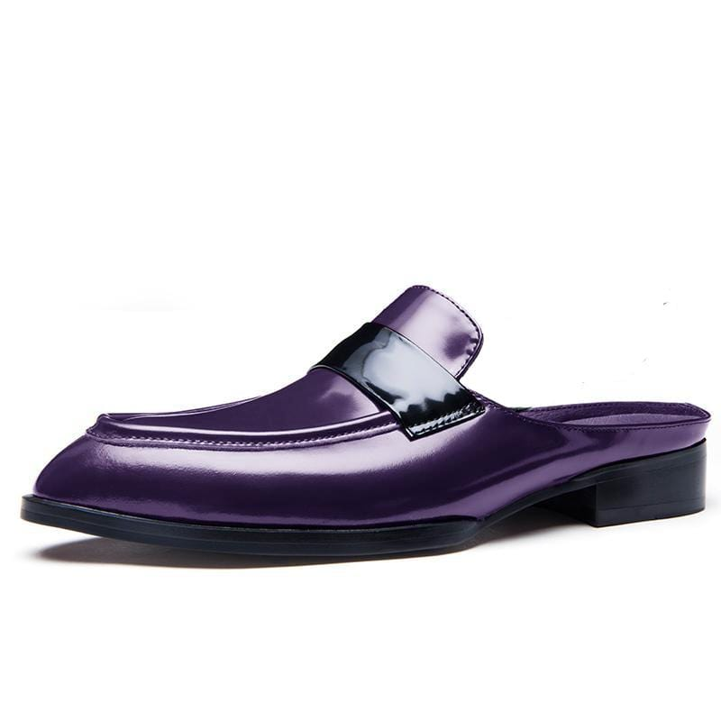 Summer Leather Slippers Half Shoes Men's Fashion Footwear