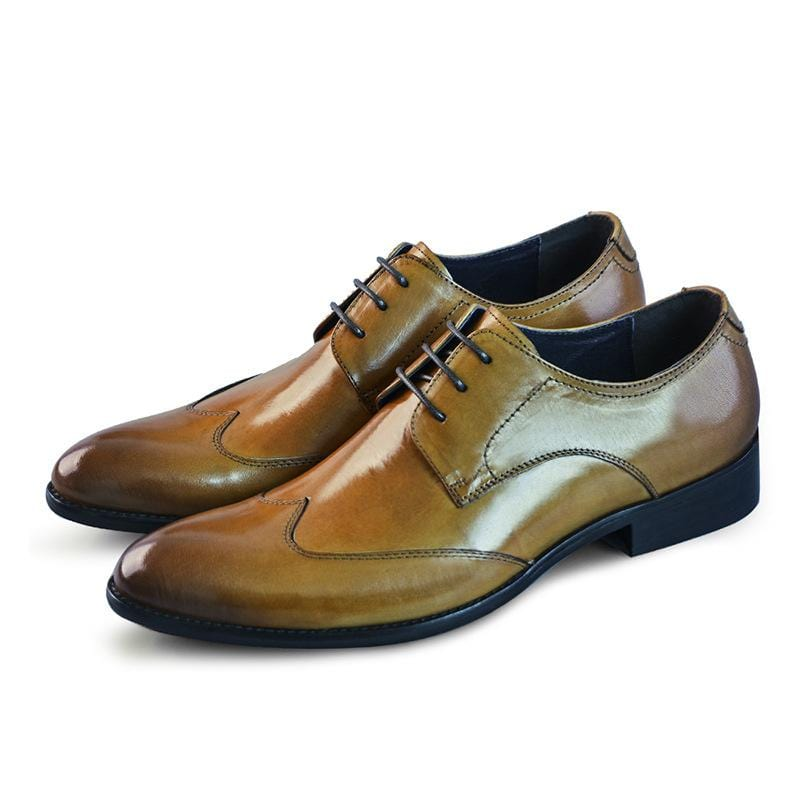 Leather Brogue Shoes Men's Leather Shoes