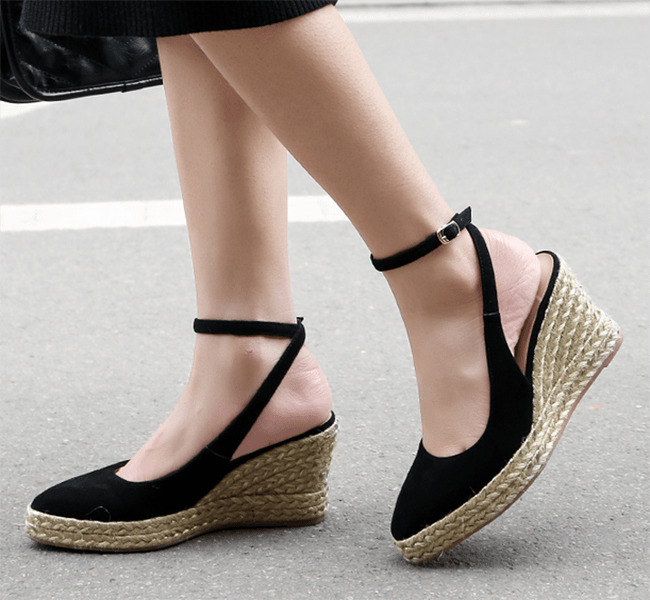 Ramie Sole Wedge Heel Women Sandals Summer Shoes-XXWL01321