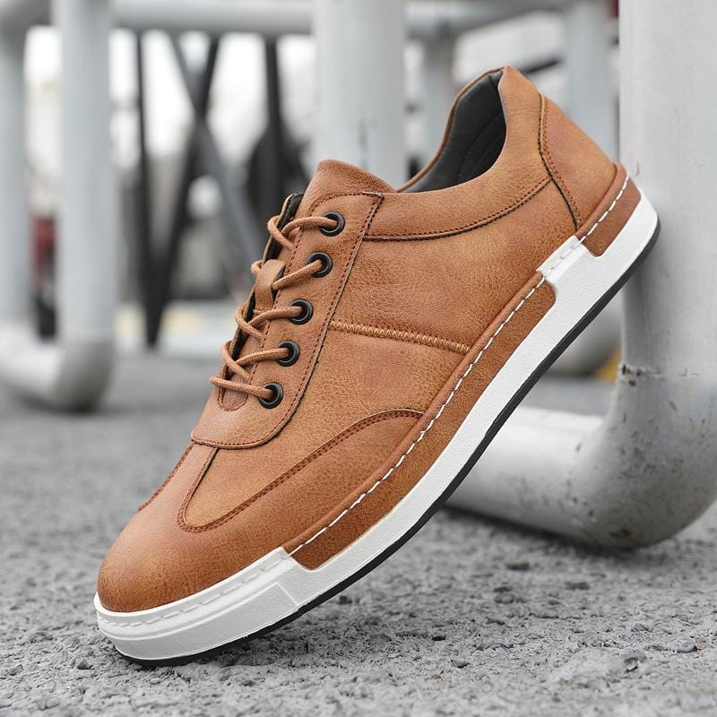 Men's Casual Sneakers Lace-up Round-toe Shoes
