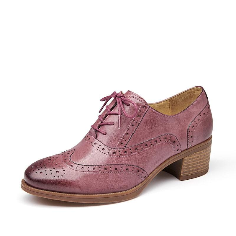 Lace-up Oxford Leather Shoes Retro Bullock Carved Derby Shoes