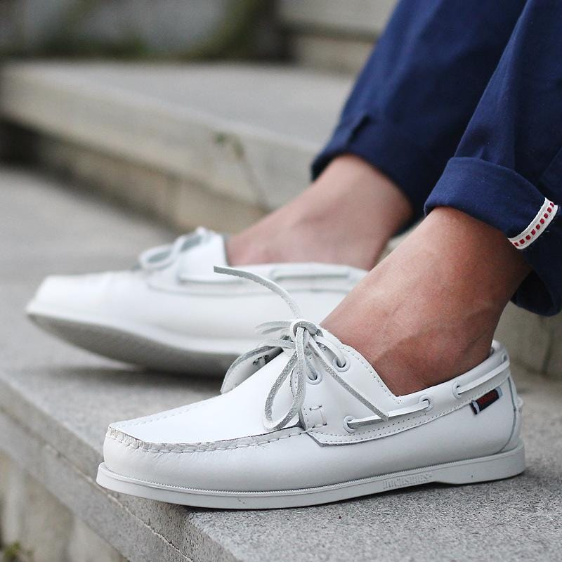 Men's Leather Boat Shoes Casual Lace-up Loafers