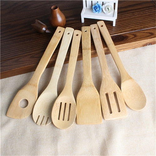 All-Natural Bamboo Kitchen Utensil Set