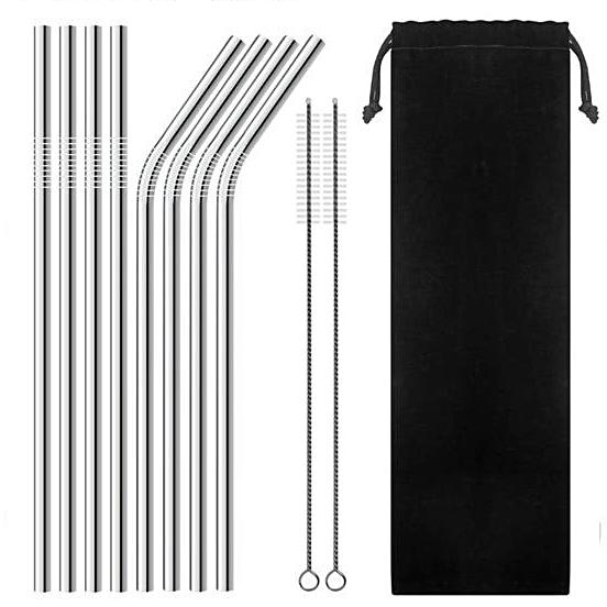 Reusable Stainless Steel Straw Set (8pcs)