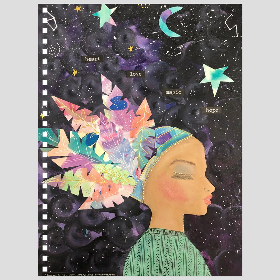 Multi-Color Feathers Notebook - Jennifer Sher Art
