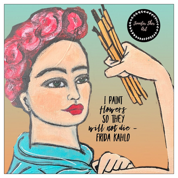 Frida Inspired Flat Cards