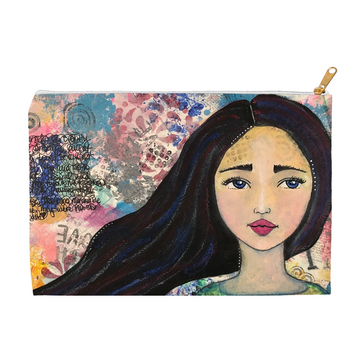 Mixed Media Girl Accessory Pouches