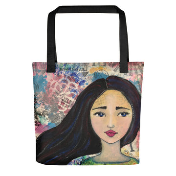 Mixed Media Girl Tote bag - Jennifer Sher Art