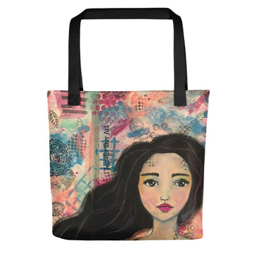 Mixed Media Girl 2 Tote bag - Jennifer Sher Art