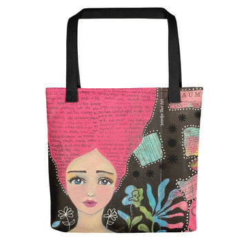 Pink Hair Girl Tote bag
